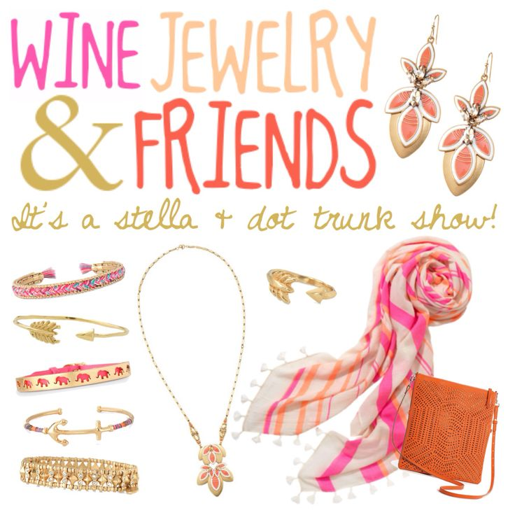 Wine jewelry & friends Stella & dot trunk show party To host one of your owns, contact me on my website. www.stelladot.com/kristengervasio