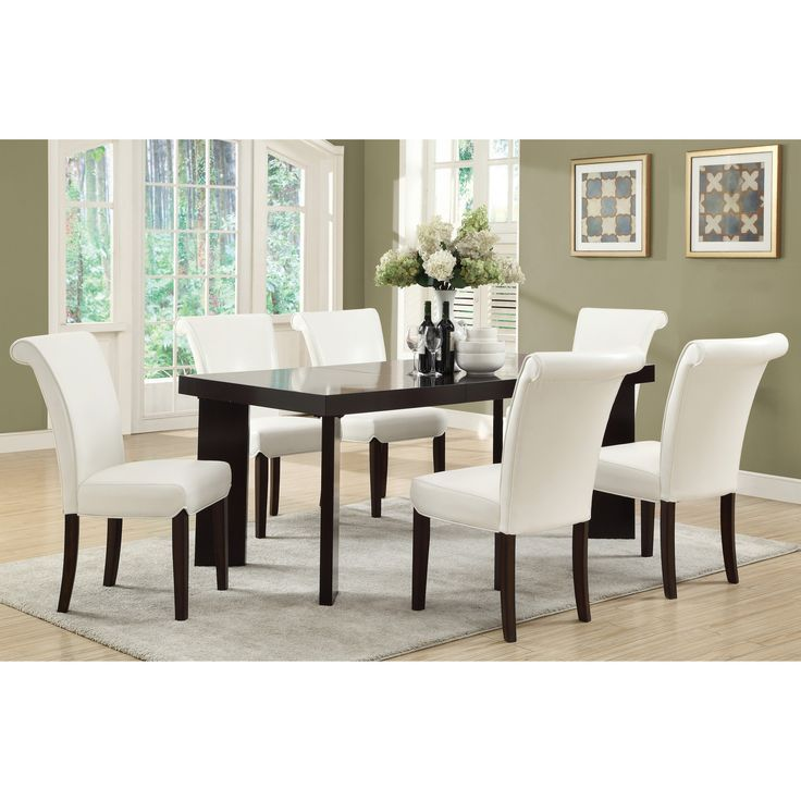Monarch Dark Espresso 72 In. Extension Dining Table   A Clever And Modern  Leg Design Makes The Monarch Dark Espresso 72 In. Extension Dining Table  Perfect ...