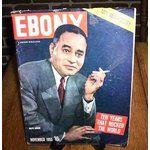 Ebony Magazine Cover 1955 | eBay Image 1 1955 EBONY MAGAZINE 10th ANNIVERSARY RALPH BUNCHE