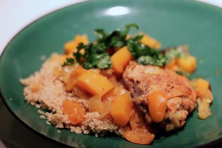 Moroccan Chicken with Kumquats and Prunes