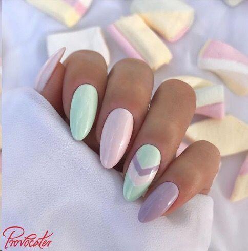Oster Nagel Inspo. Hübsche Pastellfarben sind perfekt … – #hübsche #Inspo #N