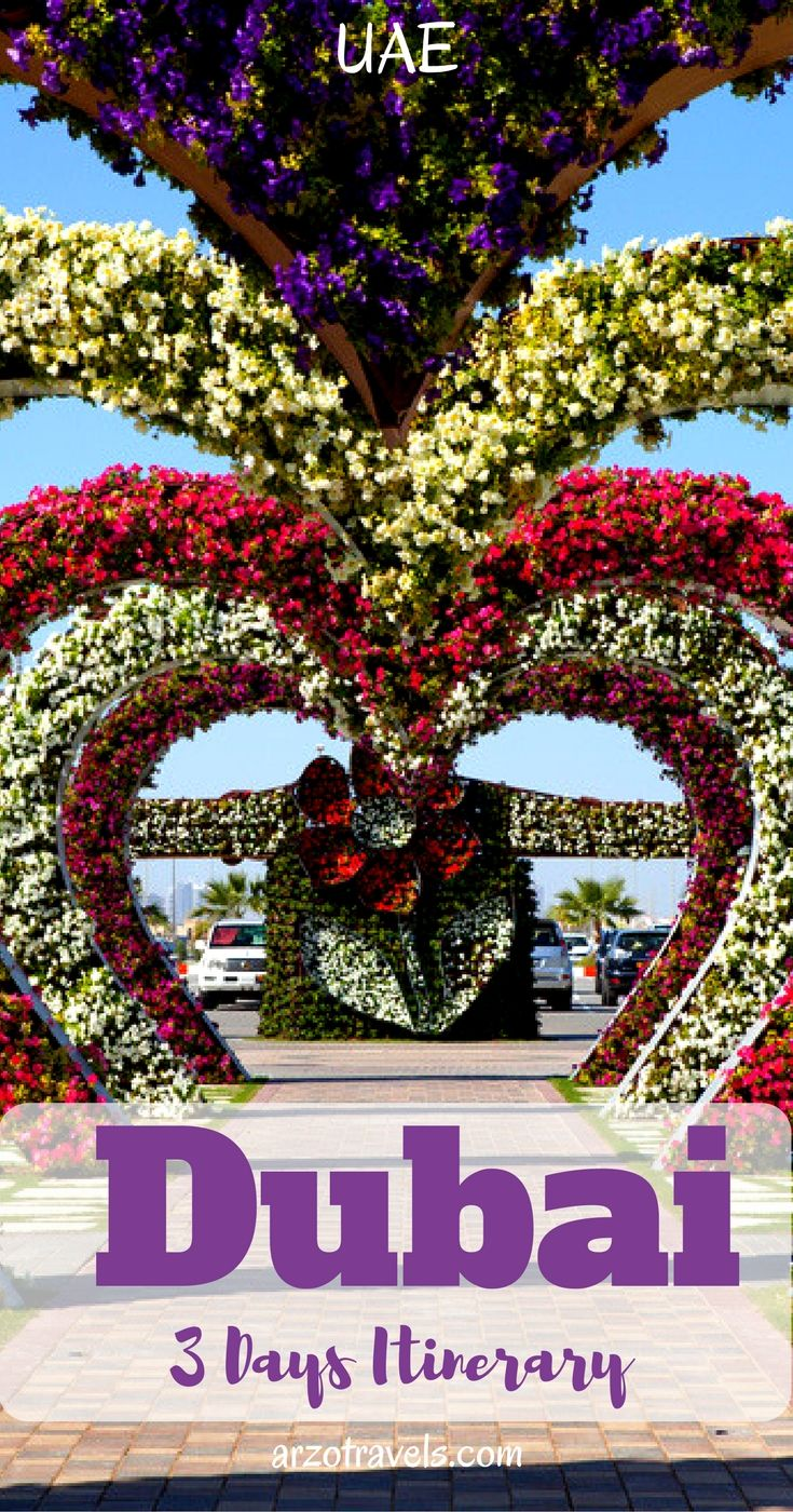 UAE, Dubai in 3 days. Things to do and see. Miracle Garden.