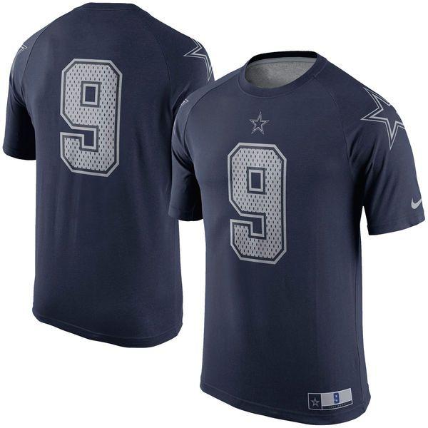 Tony Romo Dallas Cowboys Nike New Day Name & Number Performance T-Shirt - Navy - $44.99
