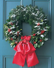Silver Fir and Holly Wreath | Step-by-Step | DIY Craft How To's and Instructions| Martha Stewart