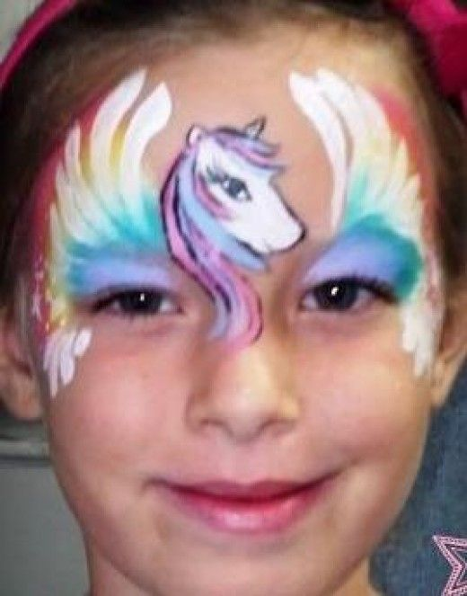 Unicorn Face Painting Designs and Ideas for Children