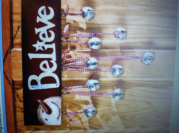 Cute Wooden Painted Sign With Bells Must Try For