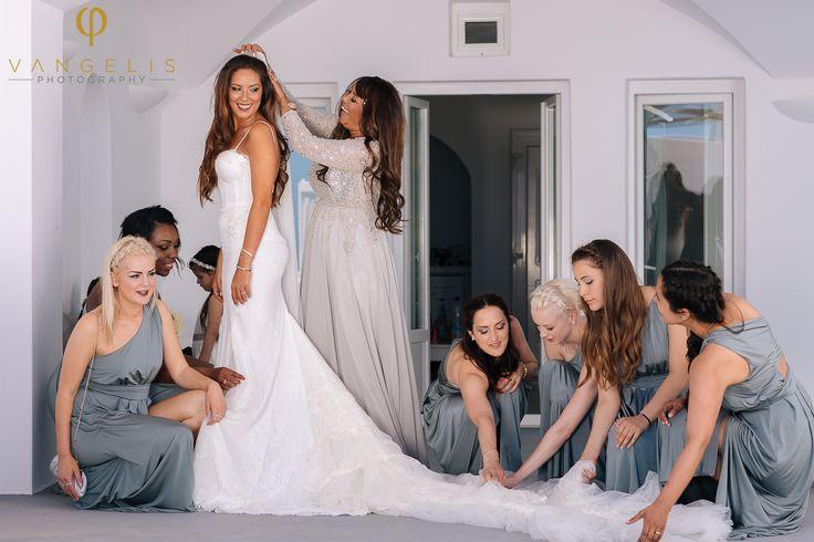 Hernandez Nicolas Bisson & Revell Lisa Anne. Santorini Weddings, Wedding venue, Wedding ceremony and reception, Sunset view.