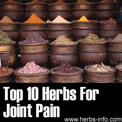 10 Herbs for Managing Joint Pain. We include turmeric in our endurance tea for its anti-inflammatory qualities. Helps muscles rebuild faster and fights joint pain.