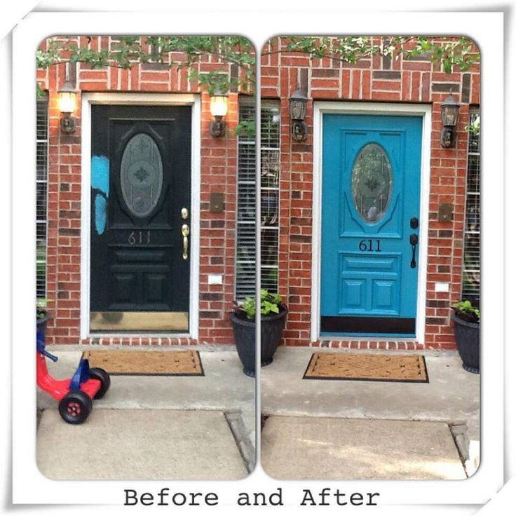 Behr Paint Quot Peacock Feather Quot A Colorful Door Can Make A