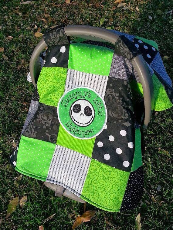 Car seat cover #jack skellington #toocute #maybe one day idea
