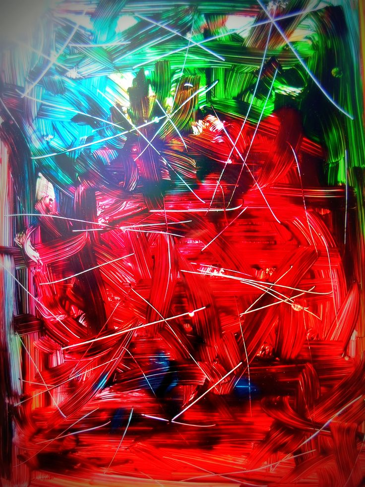 Fiery Forest* acrylic on glass A3 size by me
