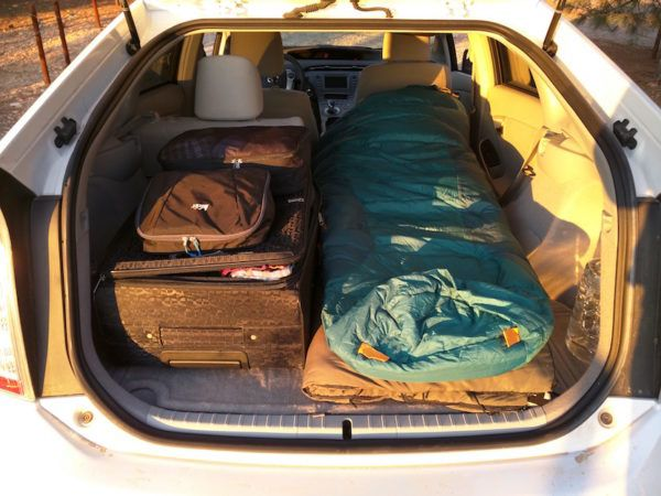 Living in a Toyota Prius for 5000 miles -- stealth camping, tips, etc