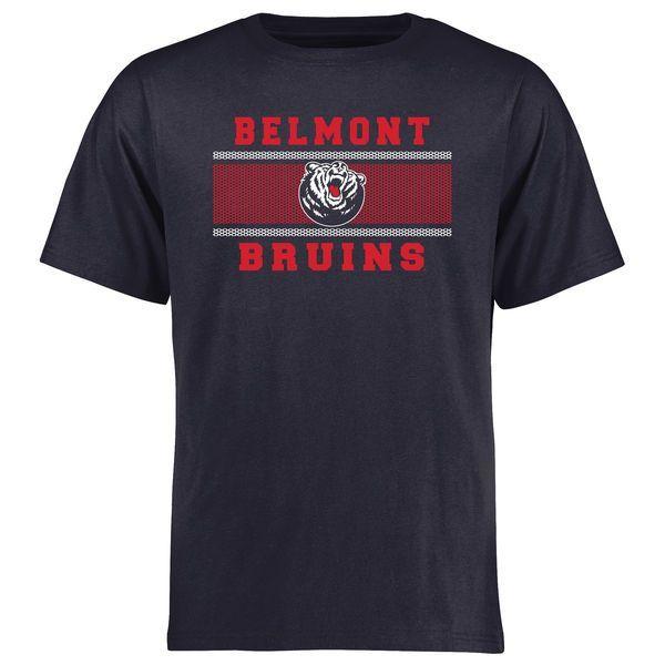 Belmont Bruins Big & Tall Micro Mesh T-Shirt - Navy - $29.99