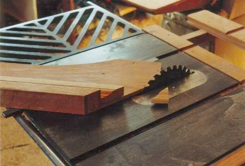 woodworking table saw jigs | 45 degree miter cutting jig