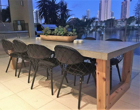 Best   Seater Dining Table Ideas On Pinterest Round Dining - Concrete dining room table