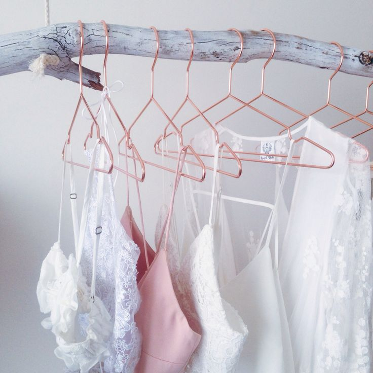 Rose Gold Coat Hangers - http://www.amazon.com/CopperKonk-Polished-Clothing-Hangers-Collection/dp/B017BFW8DS