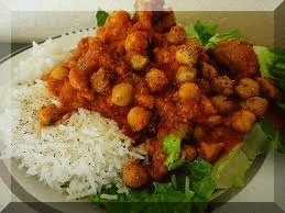 Tourist Attraction India: Travel And Food : Tasty Chole-Rice