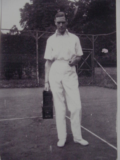 Anyone for tennis? The Duke of York relaxes at Polesden Lacey in 1925.