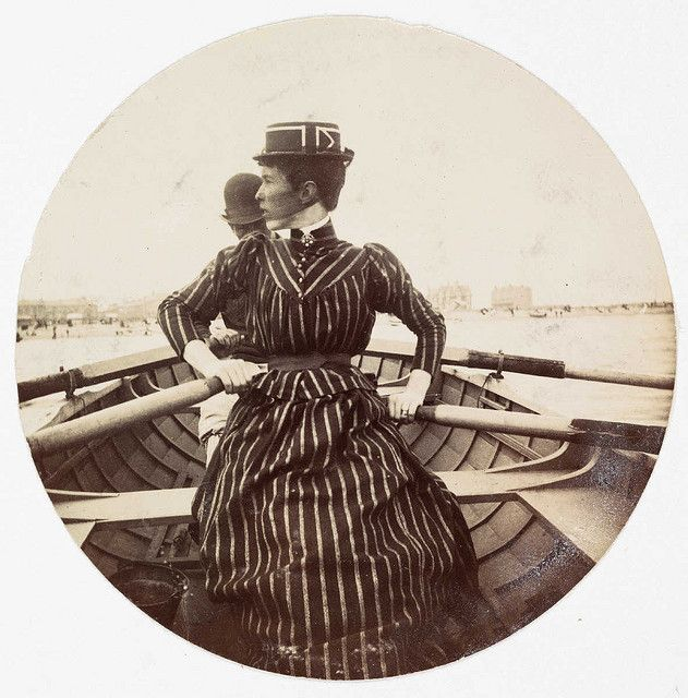 Woman in a rowing boat by National Media Museum, via Flickr