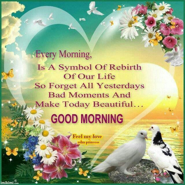 Good Morning My Love Have A Blessed Sunday : Morning is a symbol of rebirth our life so forget
