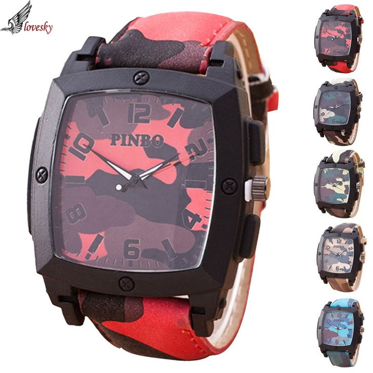 >> Click to Buy << Lovesky 3 Colors Men's watch Relojes hombre 2015 Stylish Camouflage Square Meter Quartz Watch relogio masculino #Affiliate
