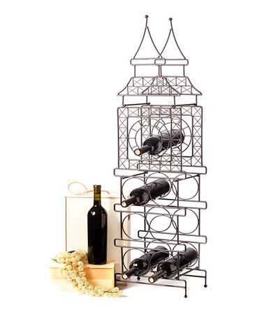 Black Matte Big Ben Wine Bottle Holder by AQ.