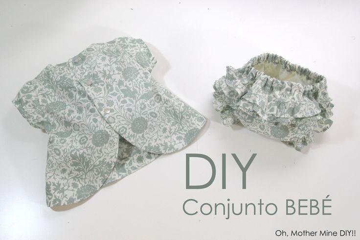 DIY Cómo hacer vestido y cubre pañal para bebé (patrones o moldes gratis)