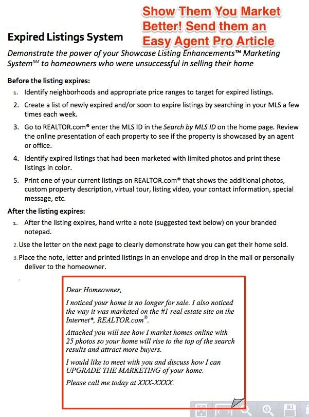 the best expired listing letter sample templates to use now