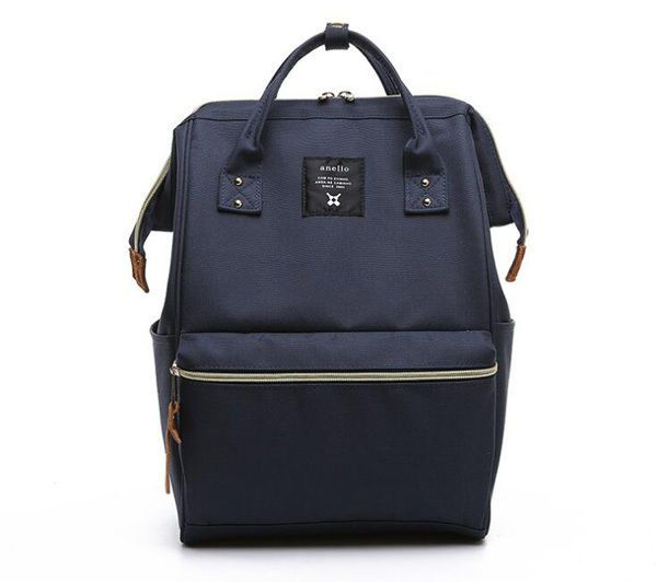 Japan Anello Original Backpack Rucksack Unisex Canvas Quality School Bag Campus