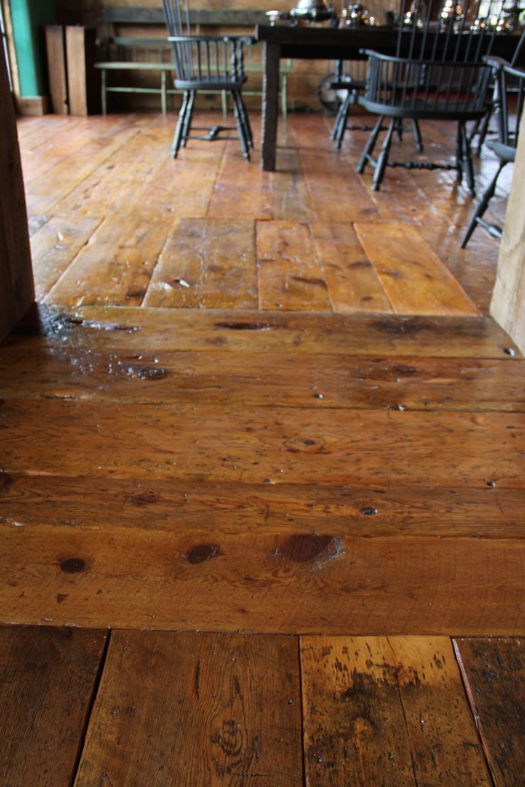 Wide Pine Planked Floors With Character And Patina