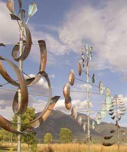 Lyman Whitaker's Wind Sculptures.   District Art Gallery, Park City, UT