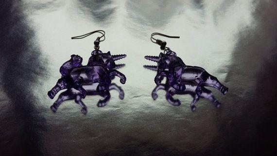 Unicorn Earrings / Transparent Unicorn by MadeWithUnicorns on Etsy