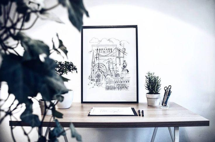 Göteborg 50 x 70 Nästa sista dagen med 20% rabatt, Länk i profilen! ✏️ #sketch #sketching #göteborg #gothenburg #artist #illustrate #illustrator #art #artwork #print #doodle #architecture #sweden #målning #rita #teckning #måla #sketchbook #skiss #inredning #interior #interiör #grafiskdesign #graphic #graphicdesign
