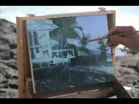 "Video of Robert Genn, painting in Hawaii, titled ""Looking South""."