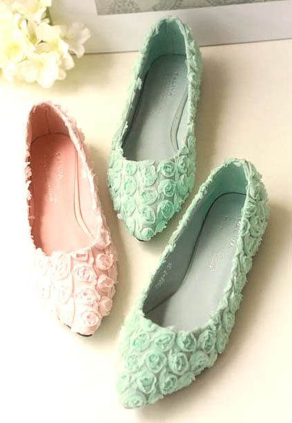 shoes - http://zzkko.com/n207294-013-new-Korean-version-of-sweet-and-elegant-cream-colored-flowers-casual-street-shooting-flat-with-singles-shoes-Pumps.html $24.35