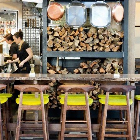 Chairs via Otium Restaurant