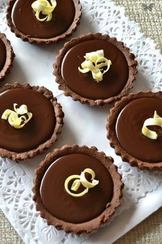 tartaletas de chocolate thermomix | chocolate tarts | masa quebrada