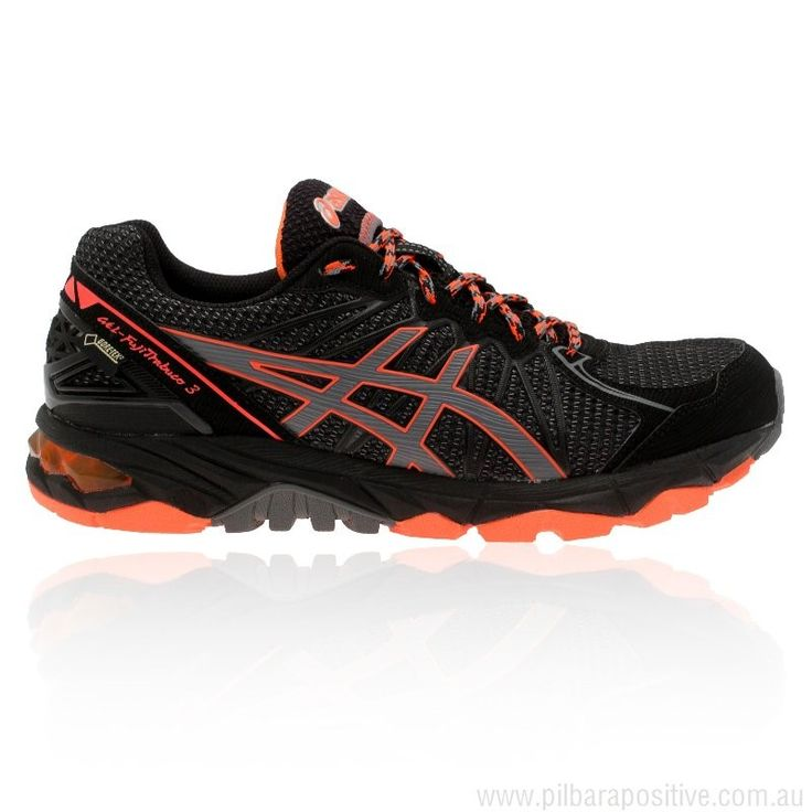 Black ASICS GEL-FUJITRABUCO 3 Gore-Tex Trail Running Mens Waterproof  Running Shoes Support