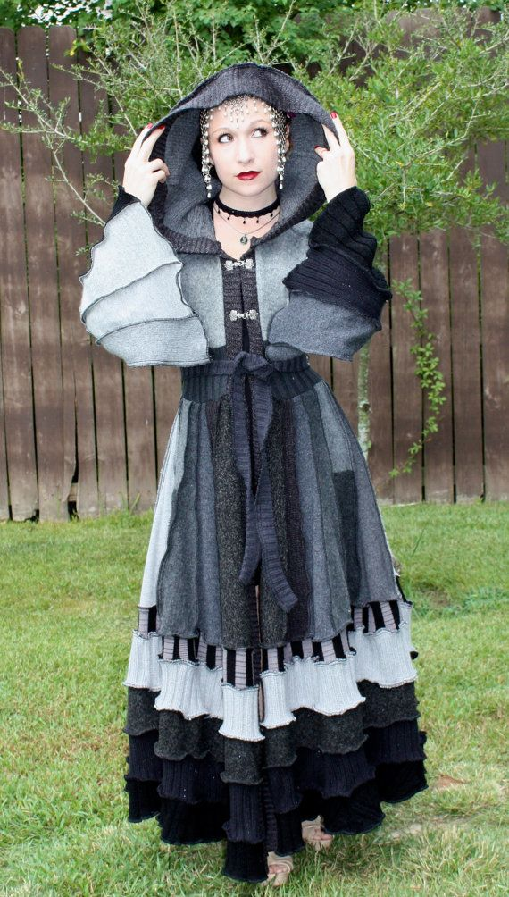 Custom Recycled Sweater Coat with a Medieval by SnugglePants
