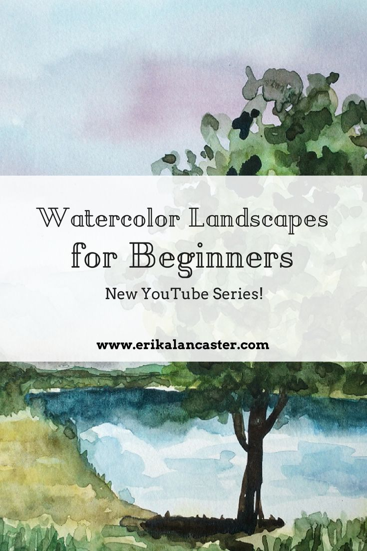 Watercolor Landscapes for Beginners. New YouTube Series. #watercolor #watercolour #painting