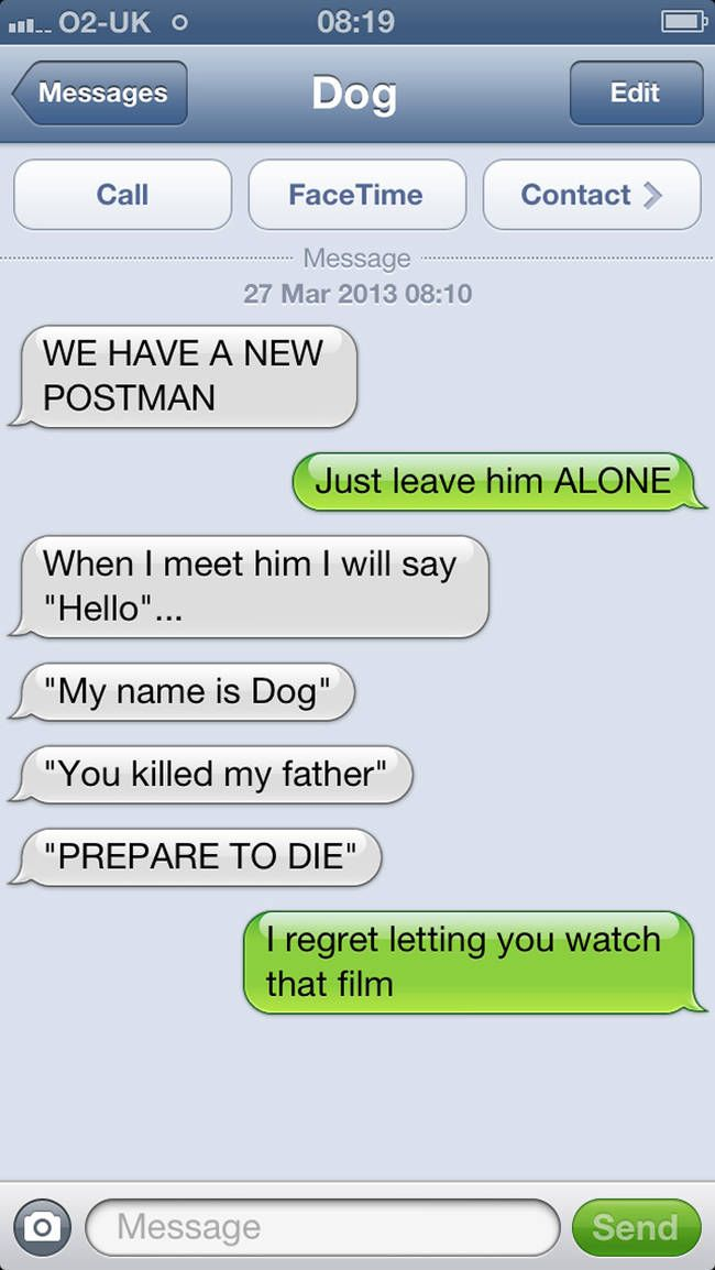 Best Text Messages Images On Pinterest Sew Friends And - Dogs able text 30 hilarious texts dogs