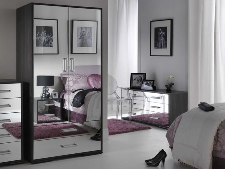 Bedroom: Mirrored Chest Cheap Mirrored Bedroom Furniture ...