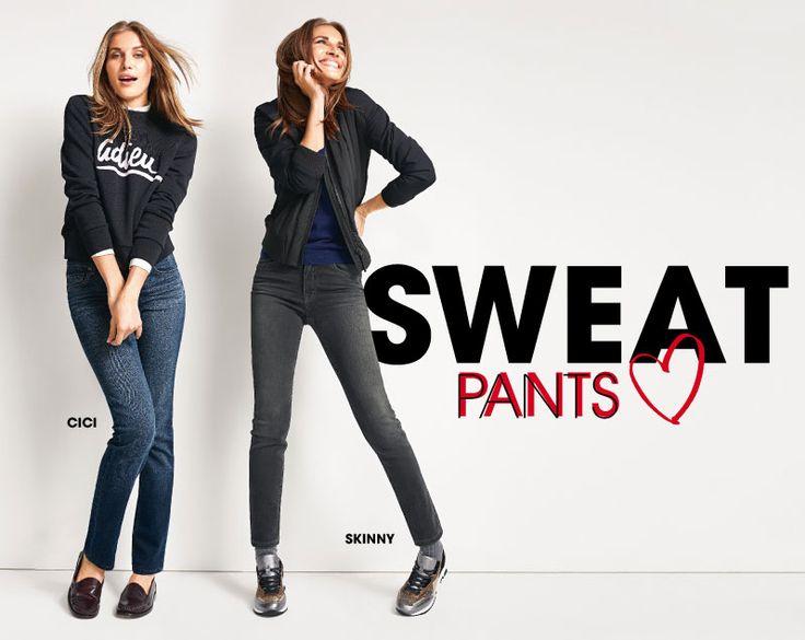 »Sweat Denim Pants« Wir führen die drei meistgekauften Modelle: Angels Cici Jeans - Angels Luci Jeans - Angels Dolly Jeans. Günstig kaufen beim Jeans Spezialisten Jeans-Meile.