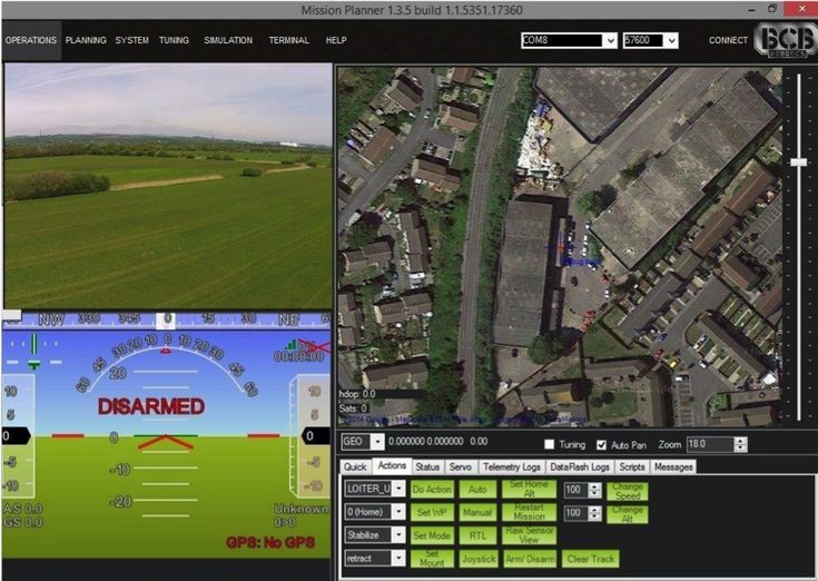 Mission planner  http://uas.wales/software/
