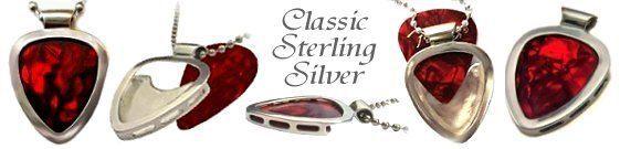 .925 Guitar PICK HOLDER PENDANT Necklace Sterling SILVER PICKBAY Wedding DAY ?   eBay