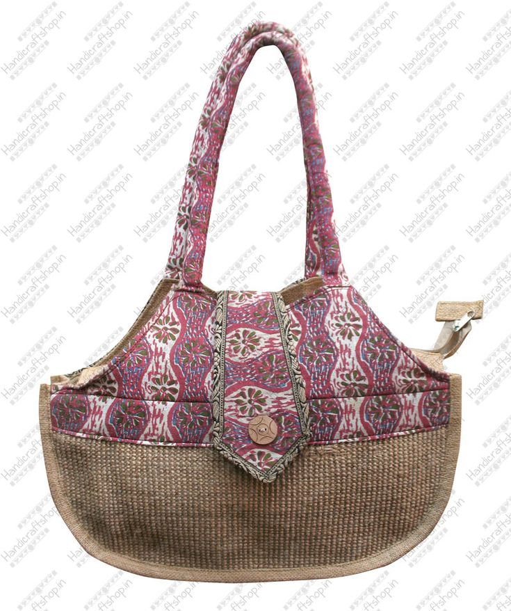 Stylish printed #jutebags #handbags shop on wholesale price from handicraftshop.in
