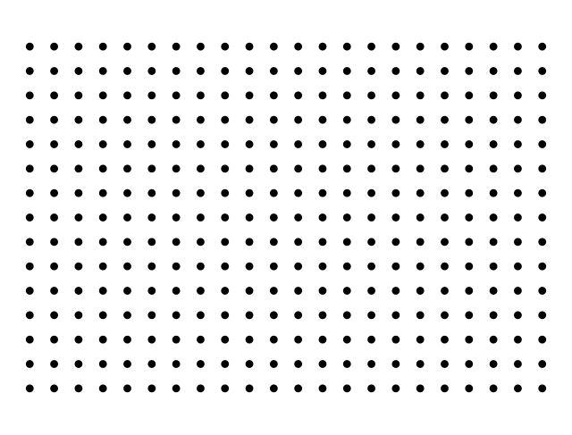 dot pattern test chart