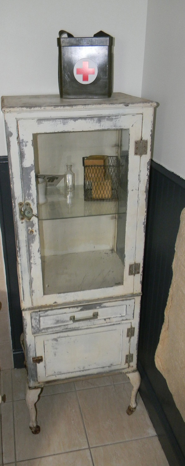 Vintage Early 1920s Medical Cabinet. Wish I could find one like this, for alot less !