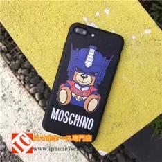 新作トランスフォーマーMOSCHINOクマくまコラボiPhone8/7sケース熊かわいい個性的アイフォン6splus/7/7Plus携帯カバー変形ロボット玩具人気キャラクターモスキーノ