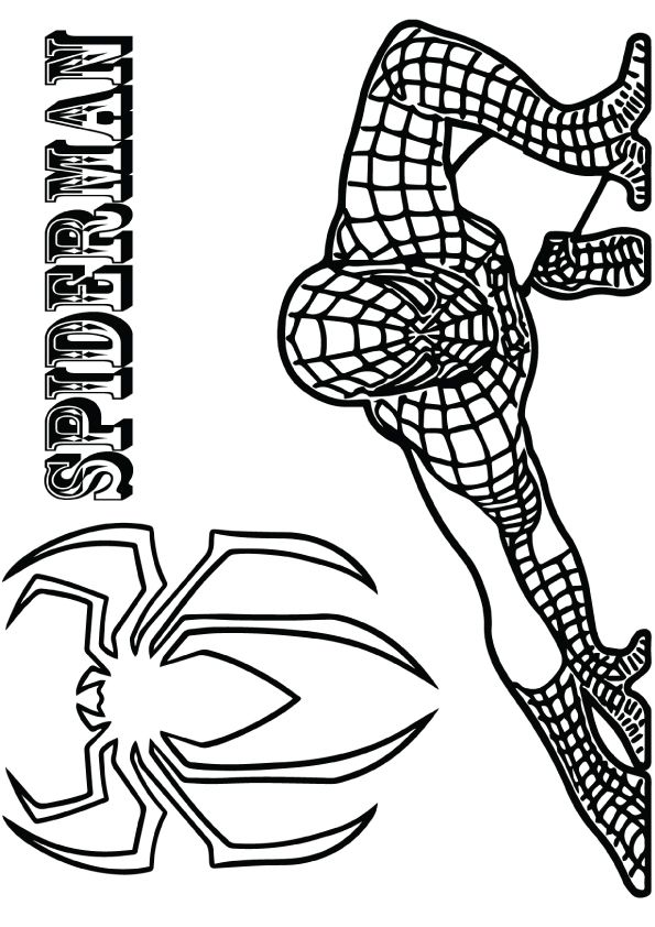 Crouching Spiderman Coloring Page In 2020 Spiderman Coloring Coloring Pages Black Spiderman